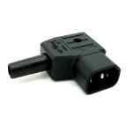 Cablenet 42-0499 electrical power plug C14 3P Black