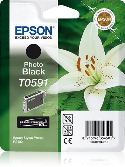 Epson Lily Cartucho T0591 negro foto