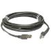 Zebra USB Cable: Series A cable USB 4,5 m USB A Macho Gris
