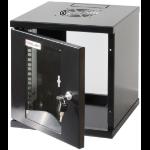 """Intellinet 10"""" Wallmount Cabinet, 6U, 320 (h) x 300 (w) x 300 (d) mm, Max 60kg, Assembled, Black"""