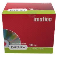 DVD-rw Media 4x - 4.7GB Jewel Case 10-pk