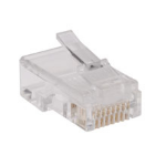 Tripp Lite N030-100-FL wire connector RJ-45 Transparent