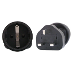 InLine Schuko to UK 3 Pin Plug Adapter
