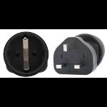 InLine Schuko to UK 3 Pin Plug Adapter