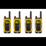Motorola TLKR T80 Extreme Quadpack 8channels 0.0125MHz Black, Yellow two-way radio