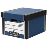 Bankers Box Bankers Box Premium Storage Box Classic FSC Blue and White [Pack 12] [12 for the price of 10] Ref 72