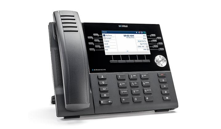 Mitel MiVoice 6930 Black Wireless handset TFT Wi-Fi IP phone