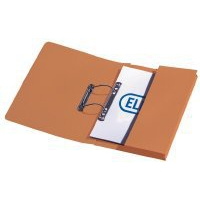 Elba Stratford Transfer Spring File Recycled Pocket 320gsm 36mm Foolscap Orange Ref 100090148 [Pack