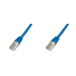 Digitus Patch Cable, UTP, CAT5E 3.0m 3m Blue networking cable