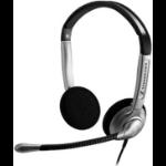 Sennheiser SH 350 IP Binaural Wired Black,Silver mobile headset