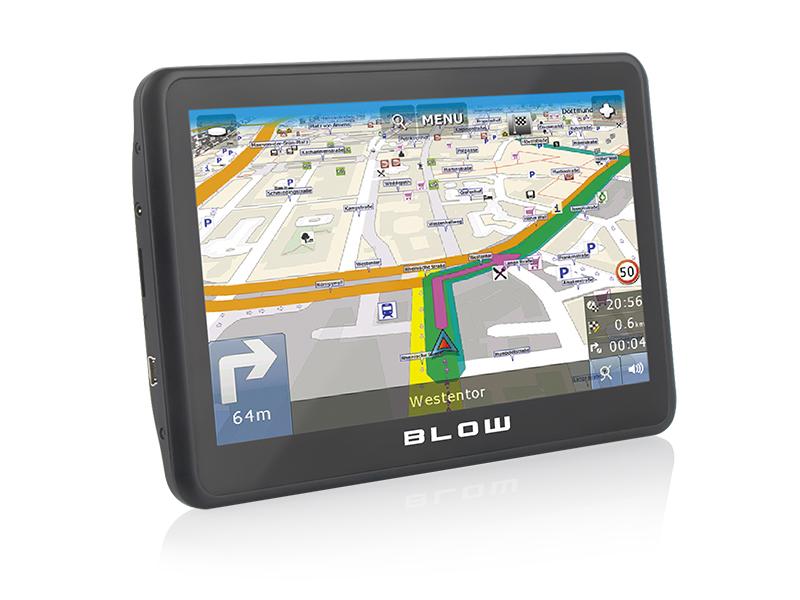 "BLOW 78-555# navigator 17.8 cm (7"") Touchscreen TFT Fixed Black"