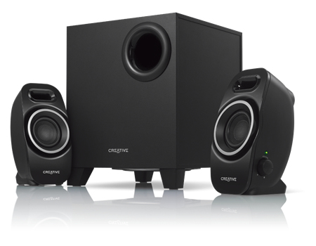 Creative Labs A250 2.1channels 9W Black speaker set