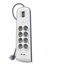 Belkin BSV804VF2M limitador de tensión 8 salidas AC 2 m Blanco