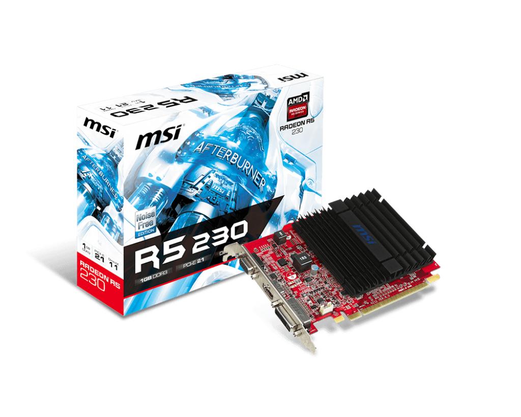 MSI Radeon R5 230 1GD3H Radeon R5 230 1GB GDDR3