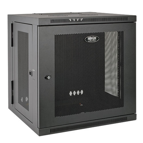 Tripp Lite SmartRack 12U Hinged Wall-Mount Standard-Depth Rack Enclosure Cabinet