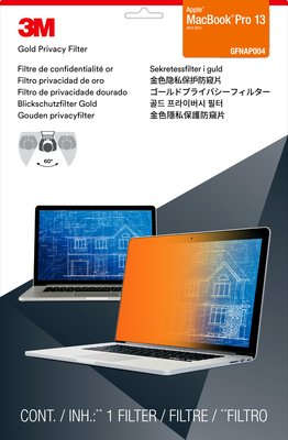"""3M Privacy Filter 13"""" 13.3"""" Notebook Frameless display privacy filter"""