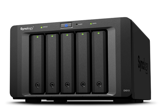 Synology DX513 40000GB Tower Black disk array