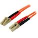 StarTech.com Cable de Red de 15m Multimodo Dúplex Fibra Óptica LC-LC 50/125 - Patch Duplex