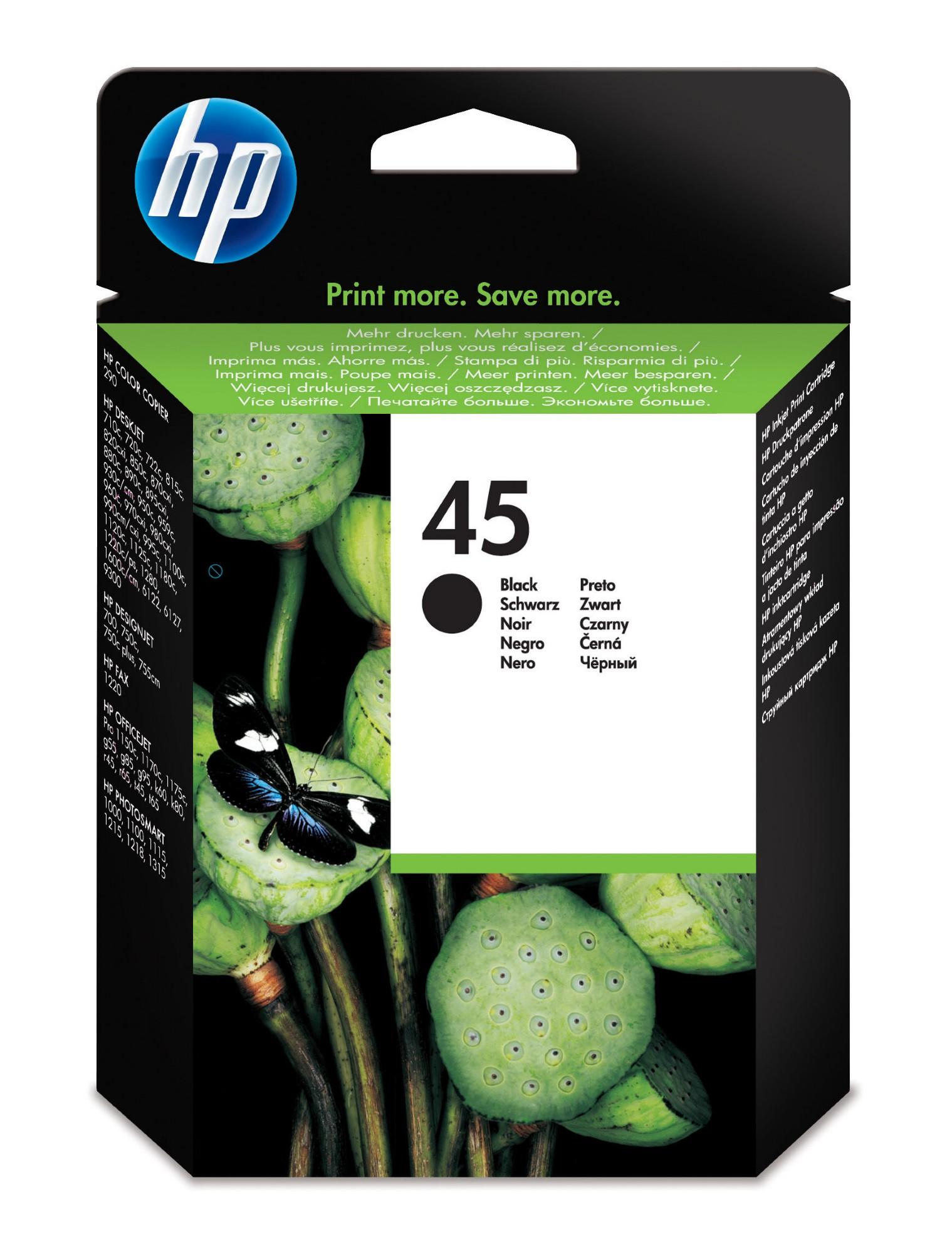 HP 45 Original Zwart 1 stuk(s)