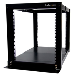 StarTech.com 12U Adjustable 4 Post Server Equipment Open Frame Rack Cabinet
