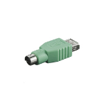 Microconnect PS/2/USB A M/F PS/ USB A Green cable interface/gender adapter