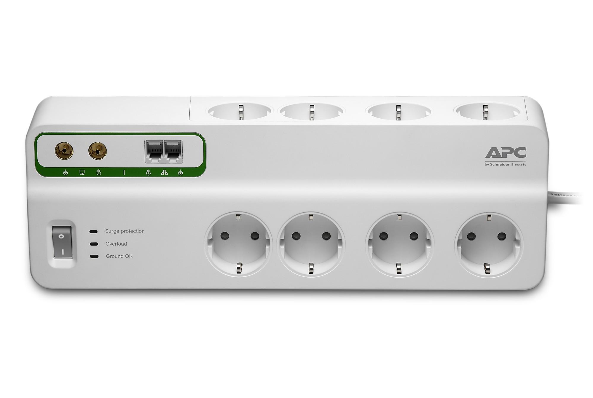 APC PMF83VT-GR limitador de tensión 8 salidas AC 230 V 3 m Blanco