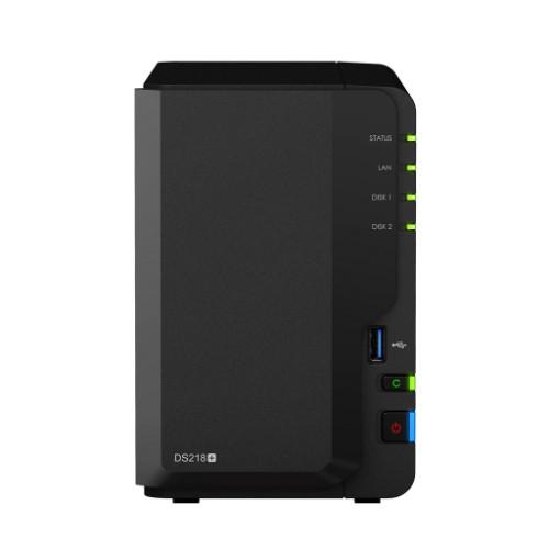 Synology DiskStation DS218+ Ethernet LAN Desktop Black NAS