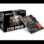 Asrock Z170 Pro4S Intel® Z170 LGA 1151 (Socket H4) ATX