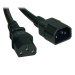 Tripp Lite Standard Computer Power Extension Cord Lead Cable, 10A, 18AWG (IEC-320-C14 to IEC-320-C13), 3.05 m (10-ft.)
