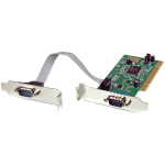 StarTech.com 2 Port PCI Low Profile RS232 Serial Adapter Card with 16550 UART interface cards/adapter