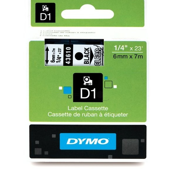 Dymo 43610 (S0720770) DirectLabel-etikettes, 6mm x 7m