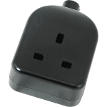 Cablenet 42-0490 electrical power plug Type G Black