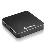 Sharkoon 4-Port USB 3.0 USB 3.0 (3.1 Gen 1) Type-A 5000Mbit/s Black interface hub