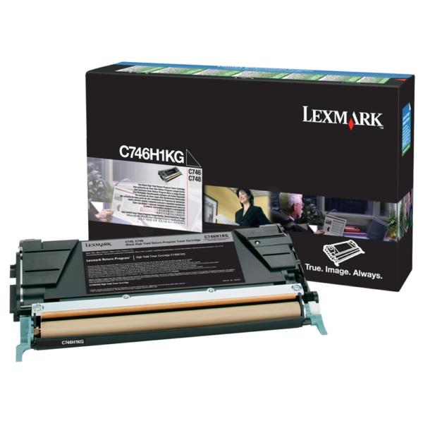 Lexmark C746H1KG Toner black, 12K pages