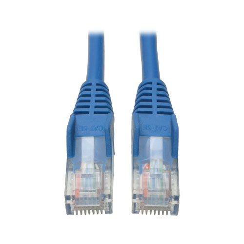 Tripp Lite Cat5e 350MHz Snagless Molded Patch Cable (RJ45 M/M) - Blue, 4-ft.