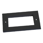 Cablenet Double Gang Faceplate Black