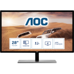"AOC Value-line U2879VF computer monitor 71.1 cm (28"") 3840 x 2160 pixels 4K Ultra HD LCD Black, Silver"
