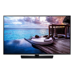 "Samsung HG43NJ678UFXZA hospitality TV 43"" 4K Ultra HD Black 20 W"