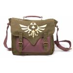 NINTENDO Legend of Zelda Skyward Sword Golden Royal Crest Canvas Messenger Bag, One Size, Green/Mauve (MB0602