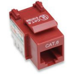 Intellinet Keystone Jack, Cat6, UTP, Punch-down, Red
