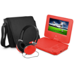 """Ematic EPD707 Convertible 7"""" 480 x 234pixels Red"""