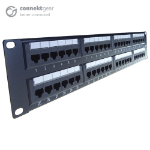 CONNEkT Gear 48 Port Patch Panel (CAT6) IDC Punch Down 19 inch