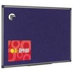 Bi-Office Blue Felt Noticeboard 1800x1200 Aluminium DD
