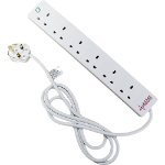 Cablenet 5m 6 Way Surge Protection Power Block White