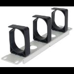 "Intellinet 10"" Cable Management Panel, 1U, Three Large Retaining Rings, Grey"