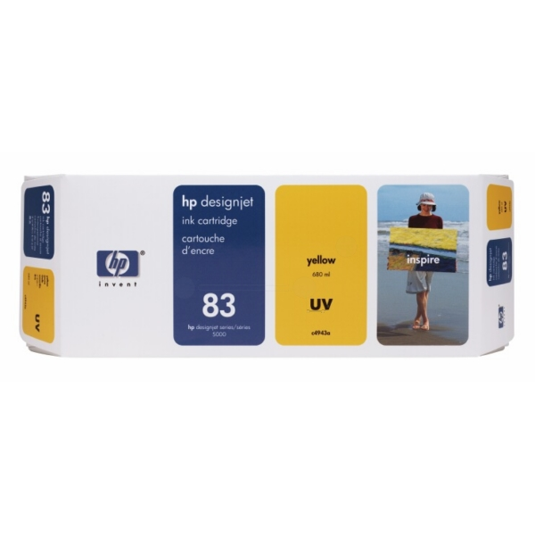 HP C4943A (83) Ink cartridge yellow, 680ml