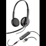 Plantronics C325 3.5 mm Binaural Head-band Black headset