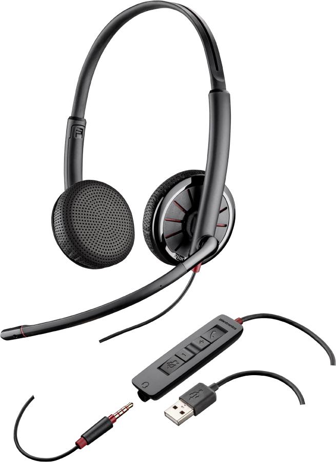 Plantronics C325 Binaural Head-band Black headset