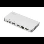 ASSMANN Electronic DA-70866 notebook dock & poortreplicator Bedraad USB 3.1 (3.1 Gen 2) Type-C Zilver