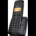 Gigaset A120 Teléfono DECT Negro Identificador de llamadas